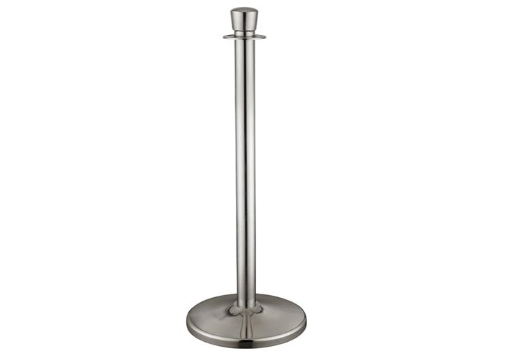 Crowd Control Queue Management Stainless Steel Chrome Finish Crown Top Rope Stanchion VRC-51