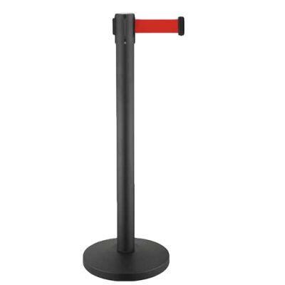 crowd-control-system-for-line-management-retractable-belt-stanchions-retractable-crowd-control-stanchions-metal-stanchions-red-belt-rbp632