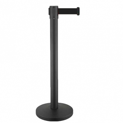crowd-control-system-for-line-management-retractable-belt-stanchions-retractable-crowd-control-stanchions-metal-stanchions-black-belt-rbp-632b
