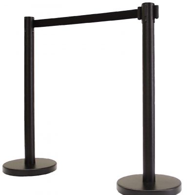 retractable belt stanchion with flat base RBP-632BF image 2